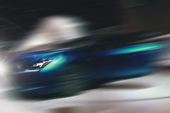 Abstract background of sport car in the motion. Abstract futuristic background of sport car in the motion Stock Photo