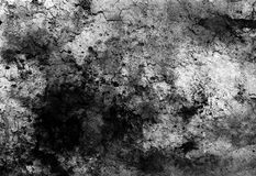 Abstract background with spots and crackle structure. Black and white Royalty Free Stock Photography