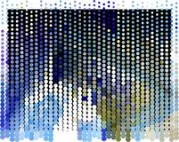 Abstract background. Spotted halftone effect. Dots, circles. Abstract background. Spotted halftone effect. Geometric low polygonal illustration. Design element Stock Image
