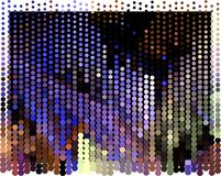 Abstract background. Spotted halftone effect. Dots, circles. Abstract background. Spotted halftone effect. Geometric low polygonal illustration. Design element Royalty Free Stock Image