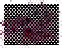 Abstract background. Spotted halftone effect. Dots, circles. Abstract background. Spotted halftone effect. Geometric low polygonal illustration. Design element Stock Photo