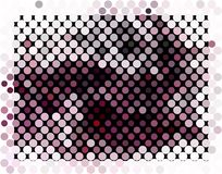 Abstract background. Spotted halftone effect. Dots, circles. Abstract background. Spotted halftone effect. Geometric low polygonal illustration. Design element Royalty Free Stock Photos