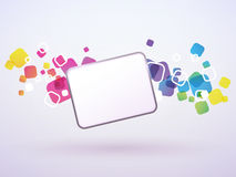 Abstract background of the square Stock Image