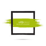 Abstract background with square banner Stock Images