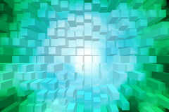 Abstract background of square box. Abstract 3d background of square box stock illustration