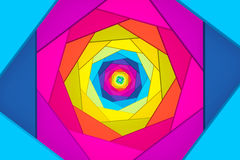 Abstract background with square color spiral Royalty Free Stock Photos