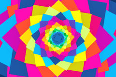 Abstract background with square color spiral Royalty Free Stock Photography