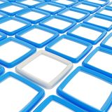 Abstract background of square elements on white Stock Images