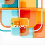 Abstract background, square shapes geometric composition. Vector eps10 illustration stock illustration
