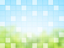 Abstract background with square tiles Stock Image