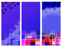 Blue banners squares Royalty Free Stock Image