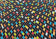 Abstract background of squares. Black background decorated with a mosaic of colored squares Royalty Free Stock Photo