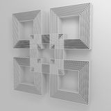 Abstract background with squares. 3D. Abstract background with overlapping squares on a white background. 3D royalty free illustration