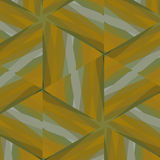 Abstract background of squares and diamonds strokes yellow and green. Abstract background of squares and diamonds painted wood yellow and green Stock Image