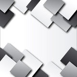Abstract background with squares. Background with grey, white squares Stock Image