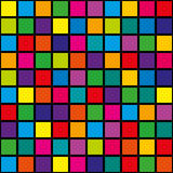 Abstract background squares. Original, abstract background of bright colored squares. Vector illustration Stock Images