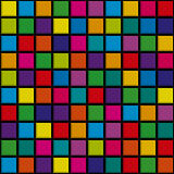 Abstract background squares. Original, abstract background of bright colored squares. Vector illustration Royalty Free Stock Images
