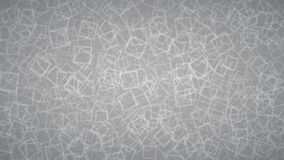 Abstract background of squares. Abstract background of randomly arranged contours of squares in gray colors Stock Photography