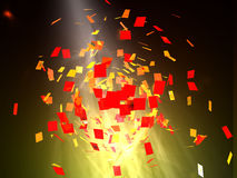 Abstract background with squares. Abstract background with red squares stock illustration