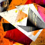 Abstract background,. With squares, triangles, paint strokes and splashes Royalty Free Stock Photo