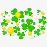 Abstract background for St. Patrick's day party poster. Stock Photo