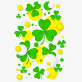 Abstract background for St. Patrick's day party poster. Royalty Free Stock Photo