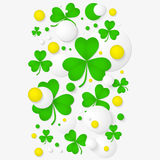 Abstract background for St. Patrick's day party poster. Royalty Free Stock Images