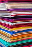 Abstract background, stack of colored layers of felt Royalty Free Stock Image