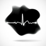 Abstract background stain with ECG. Abstract background black stain with ECG Stock Image