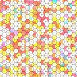 Abstract background with colorful hex polygons. Abstract background with stained glass hex polygons Royalty Free Stock Images