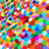 Abstract background with colorful hex polygons. Abstract background with stained glass hex polygons Stock Photography