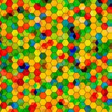 Abstract background with colorful hex polygons. Abstract background with stained glass hex polygons Royalty Free Stock Image