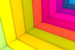 Abstract background stairs with box color. 3d illustration vector illustration