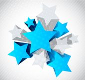 Abstract background with star. Abstract background with blue and gray star Royalty Free Stock Photography