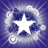 Abstract background, star. Abstract background, blue star emblem Royalty Free Illustration