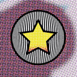 Abstract background with Star on a Circle Royalty Free Stock Photos