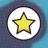 Abstract background with Star on a Circle Stock Photo