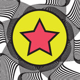 Abstract background with Star on a Circle Royalty Free Stock Photography