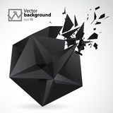 Abstract Background star exposion. Abstract Background with black 3d star exposion Royalty Free Stock Photography