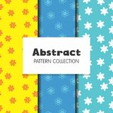 Abstract Background Star Flower Repeat. Pattern stock illustration