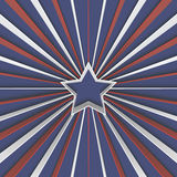 Abstract background with star and red and white stripes on blue. Royalty Free Stock Image