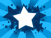 Abstract background with star shapes Stock Image