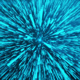 Abstract Background With Star Warp or Hyperspace. Abstract Exploding Effect. Hyperspace Travel. The Concept of Space Royalty Free Stock Photos