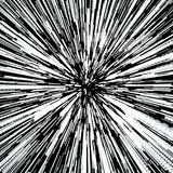 Abstract Background With Star Warp or Hyperspace. Abstract Exploding Effect. Hyperspace Travel. The Concept of Space Royalty Free Stock Photography
