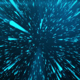 Abstract Background With Star Warp or Hyperspace. Abstract Exploding Effect. Hyperspace Travel. The Concept of Space Royalty Free Stock Image