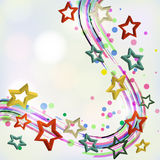 Abstract background with stars. Vector illustration Stock Photography