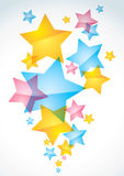 Abstract background with stars Stock Photography