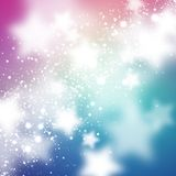 Abstract background with stars. Abstract blured background with bright colorful stars Stock Illustration