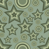 Abstract background with stars and cirles. Green color abstract background with stars and circles Royalty Free Stock Photo