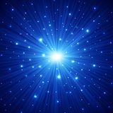 Abstract background with stars. Abstract dark blue background with stars, vector illustration Royalty Free Stock Photography